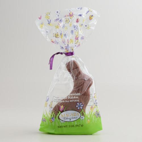 Solid Milk Chocolate Bunny, Set of 4