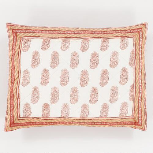 Red Paisley Ravi Pillow Shams, Set of 2