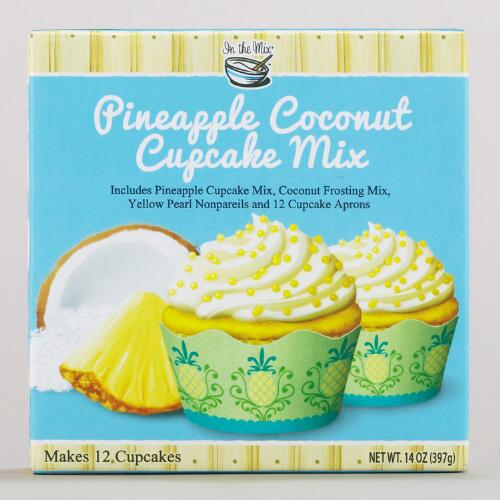 In the Mix Pineapple Coconut Cupcake Mix & Aprons, Set of 2