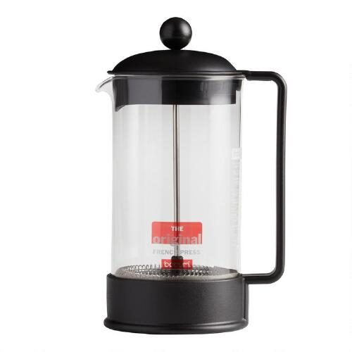 Black Bodum Brazil French Press Coffee Maker