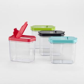 Plastic Mini Keepers Storage Containers, Set of 4