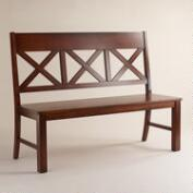 Mahogany Verona Bench with Back