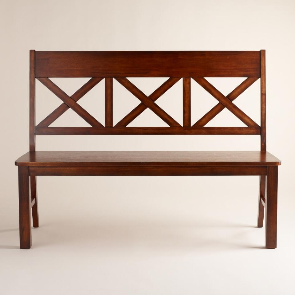 Tremendous Mahogany Verona Bench With Back On Popscreen Ibusinesslaw Wood Chair Design Ideas Ibusinesslaworg