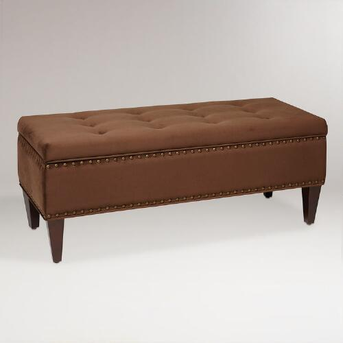 Chocolate Burnett Storage Bench