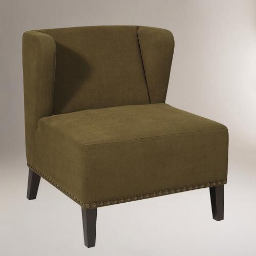 Moss Brock Wing Chair
