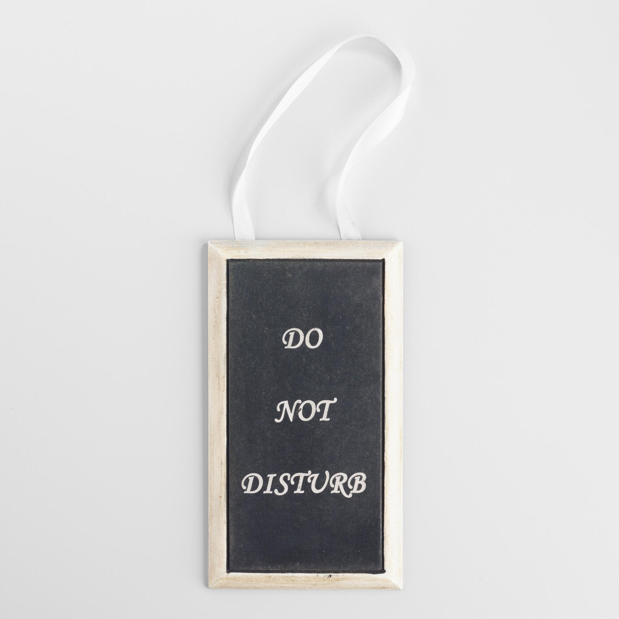 'Do Not Disturb' Bathroom Door Hanger | World Market