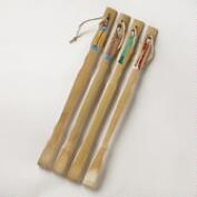 Painted Japanese Figure Backscratchers, Set of 4