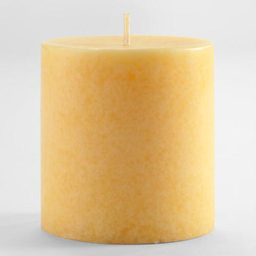 "3"" Polynesian Pineapple Mottled Pillar Candle"