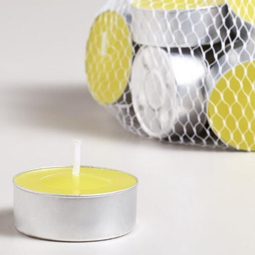 Citronella Tealight Candles, Set of 25