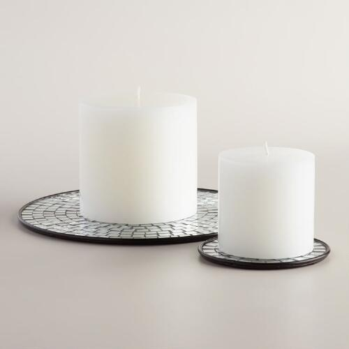 Mirror Mosaic Pillar Platters Collection