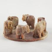 Elephant Soapstone Incense Cone Burner