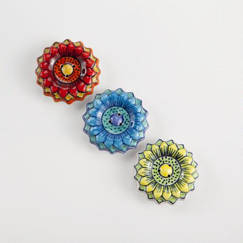 Flower Incense Holders, Set of 3