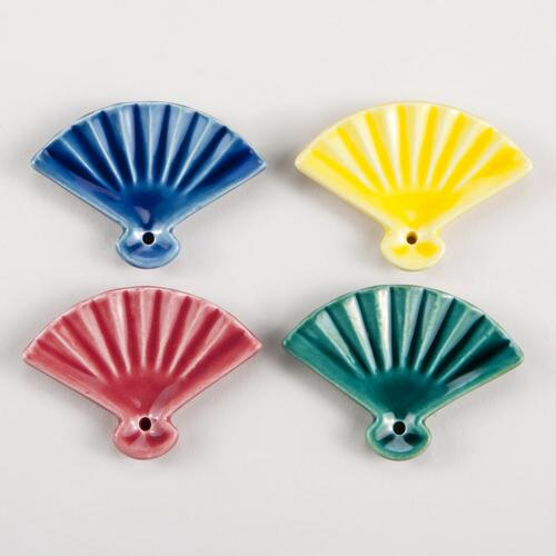 Japanese Fan Incense Holders, Set of 4