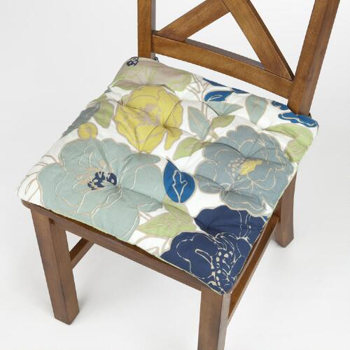 Painterly Floral Chair Pad