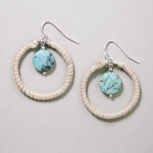 Turquoise Jasper Wrap Earrings