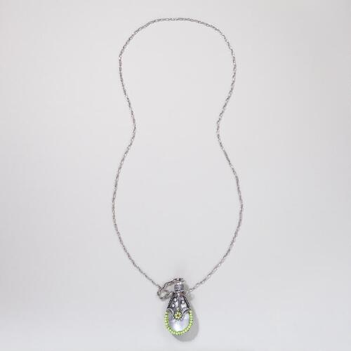 Neon Green Bottle Necklace