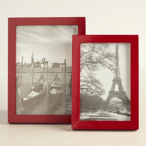 Red Lacquer Emery Frame