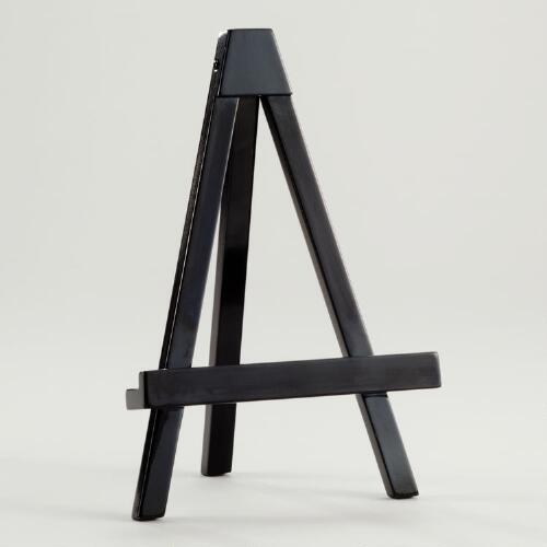 Black Lacquer Emery Easel Frame