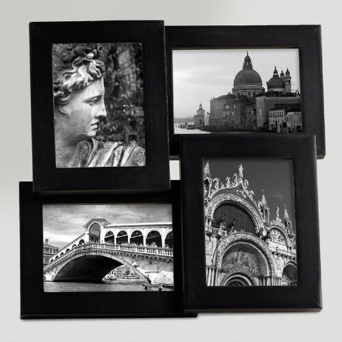 2.5x3.5 Black Emery 4-Photo Frame