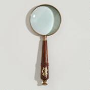 Wood and Brass Anchor Magnifying Glass