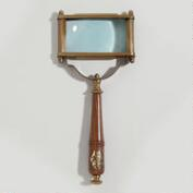 Wood and Brass Rectangle Magnifying Glass
