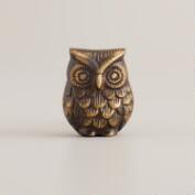 Antique Brass Owl Knobs, Set of 2