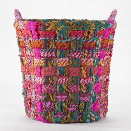 Large Round Chindi Basket