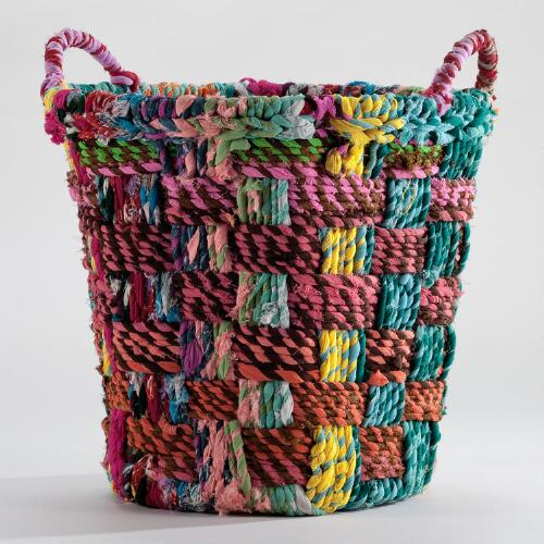 Small Round Chindi Basket