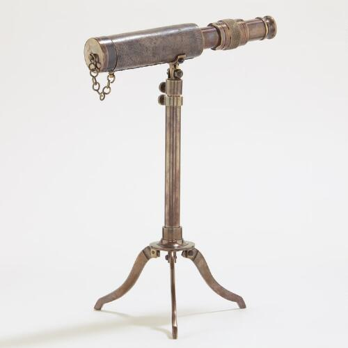 Telescope on Brass Stand