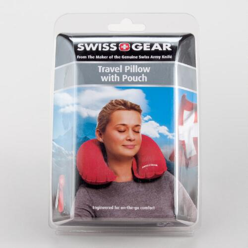 Inflatable Travel Pillow with Pouch