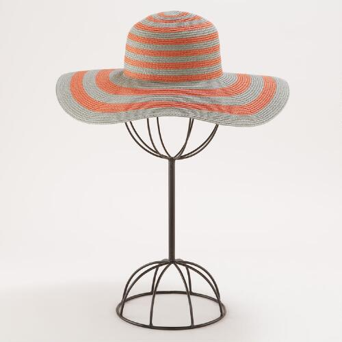Coral and Gray Sunhat