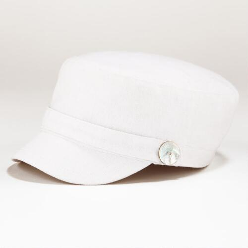 White Fisherman Cap