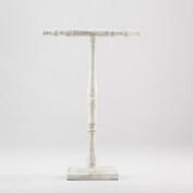 Whitewashed T-Bar Jewelry Stand