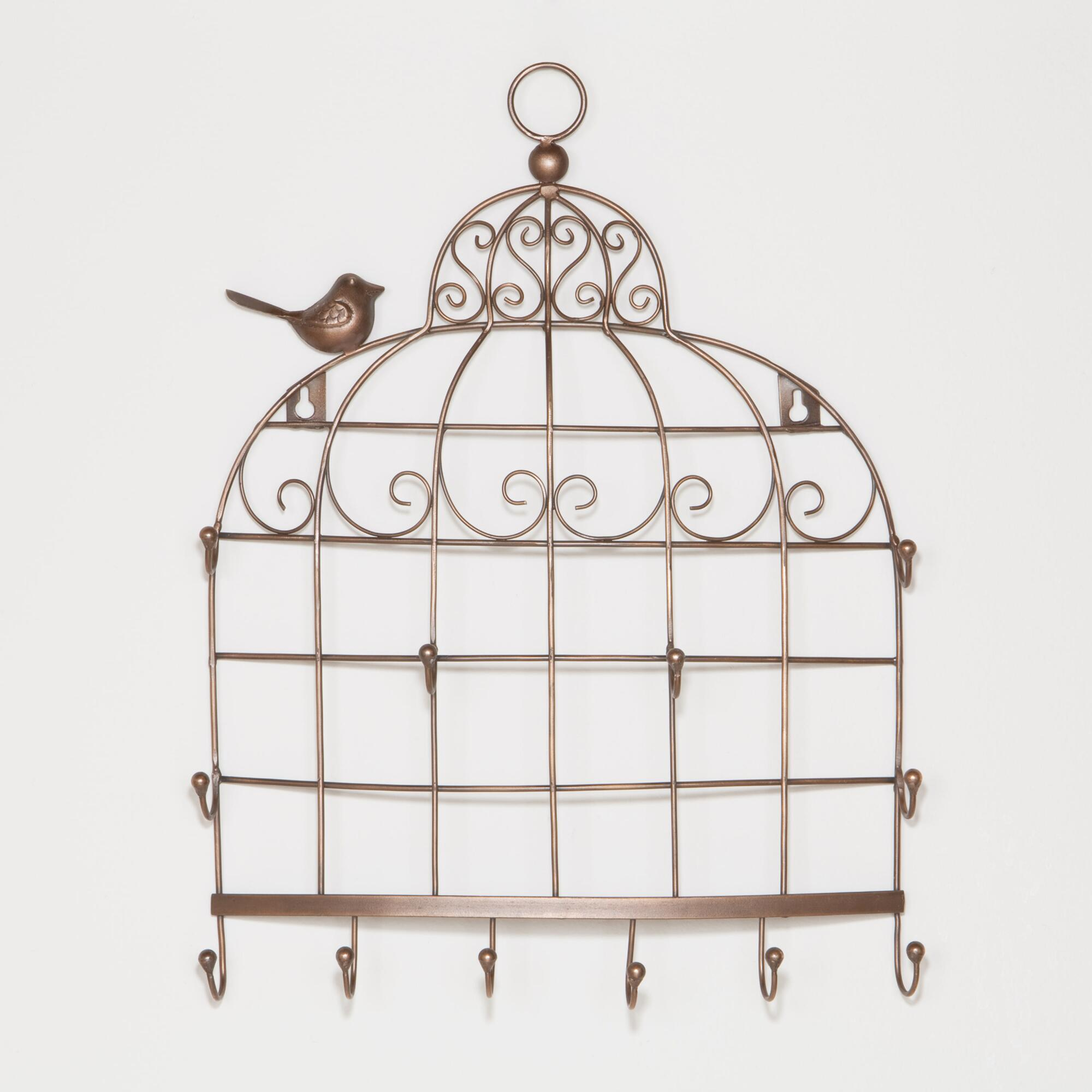 bird cage wall jewelry holder world market