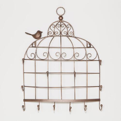 Bird Cage Wall Jewelry Holder