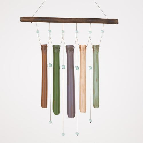 Multicolored Bamboo Wind Chime