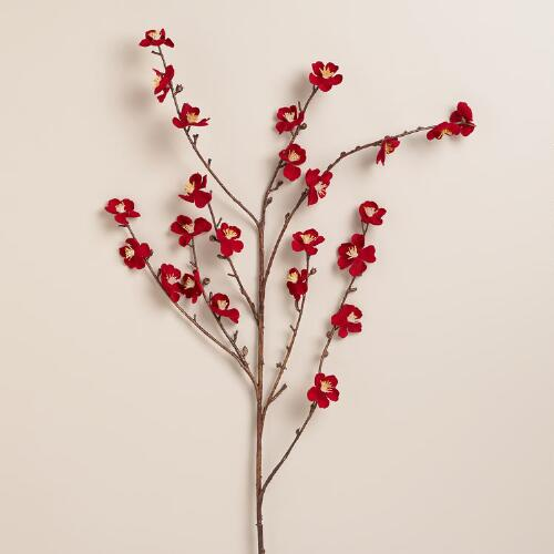 Red Velvet Plum Blossoms, Set of 2