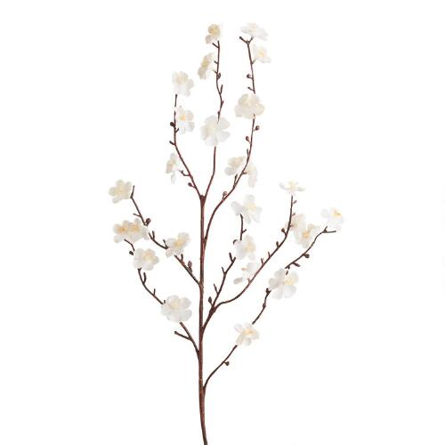 White Velvet Plum Blossoms, Set of 2