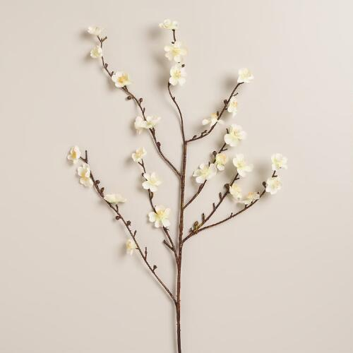 Green Velvet Plum Blossoms, Set of 2