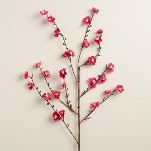 Pink Velvet Plum Blossoms, Set of 2