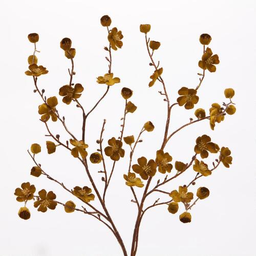 Gold Velvet Plum Blossoms, Set of 2