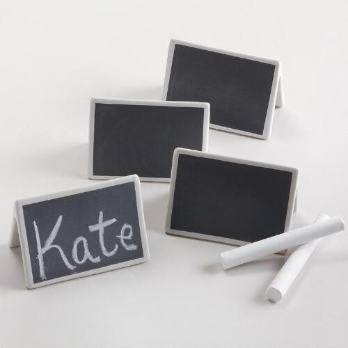 Chalk Talk Place Cards, Set of 4
