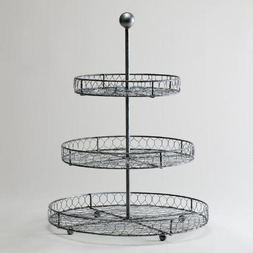 Three-Tier Wire Stand