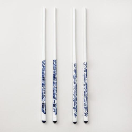 Blue Ceramic Chopsticks, Set of 2