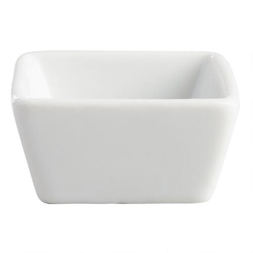 Mini Square Dishes, Set of 8