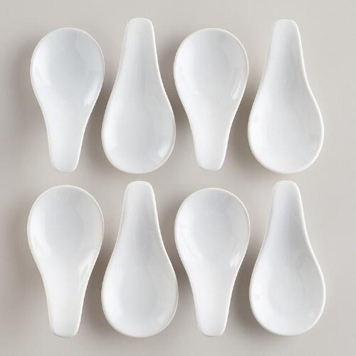 Mini Appetizer Spoons, Set of 8