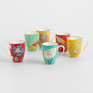 Sydney Mugs, Set of 6
