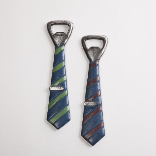 Tie Bottle Opener, Set of 2