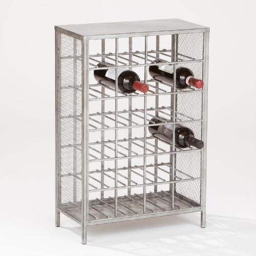 24-Bottle Loft Metal Wine Rack