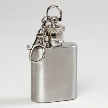 Stainless Steel Mini Keychain Flask